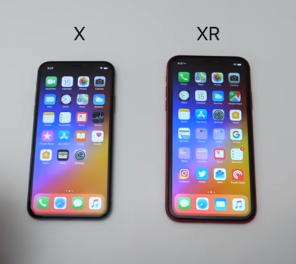 iPhone X and XR Compare