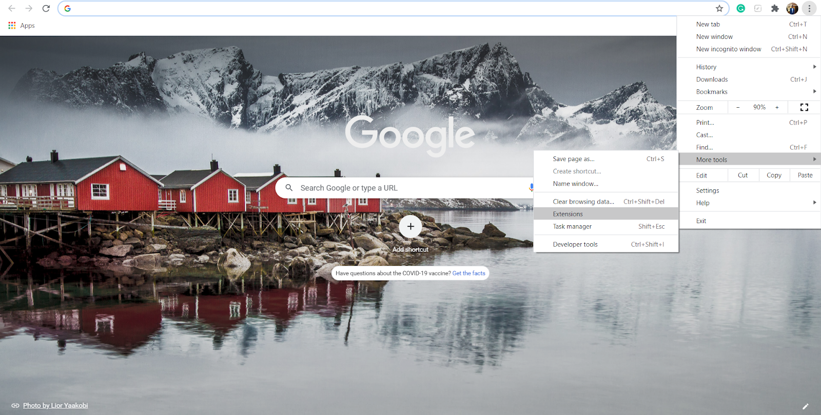 Click the menu icon in the top-right corner, then More Tools > Extensions from the menu to access your Google Chrome extensions list