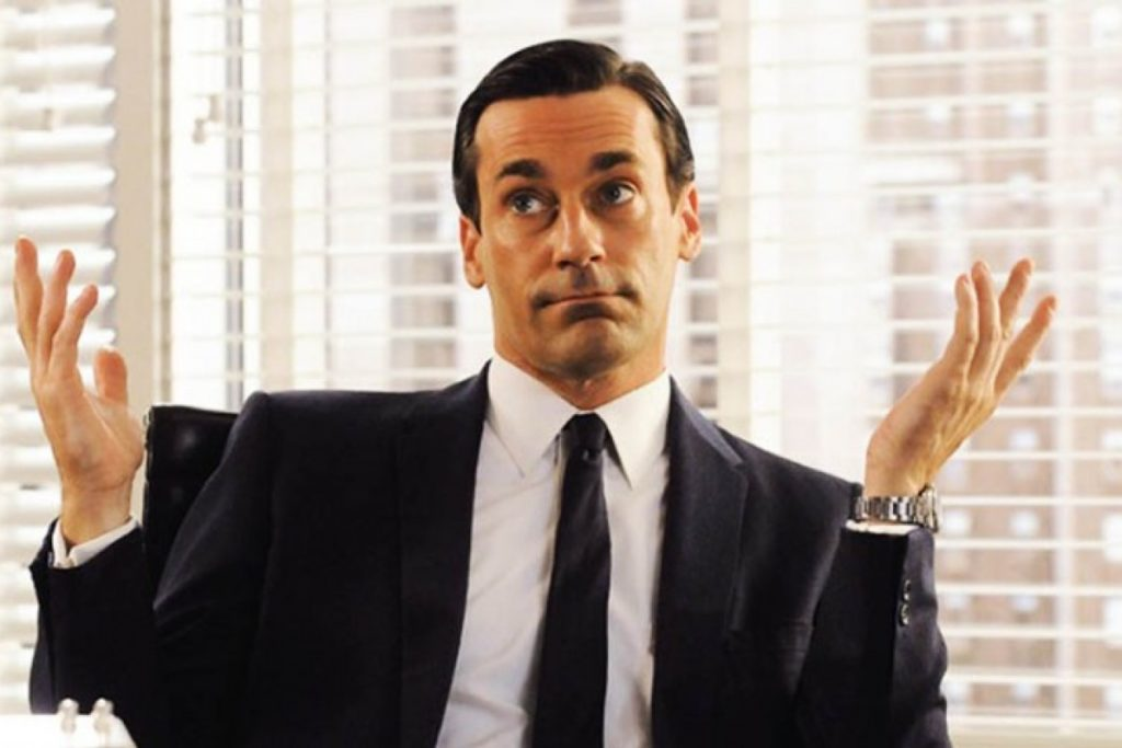 Jon Hamm as Don Draper in AMC's Mad Men.