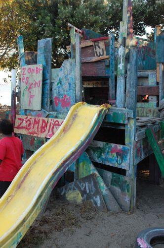 Berkeley Adventure Playground Slide