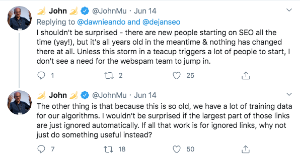 Một tweet từ John Mueller về bài đăng của khách như một hình thức xây dựng liên kết để thúc đẩy nhiều người truy cập hơn vào kỳ nghỉ của bạn thông qua thứ hạng được cải thiện