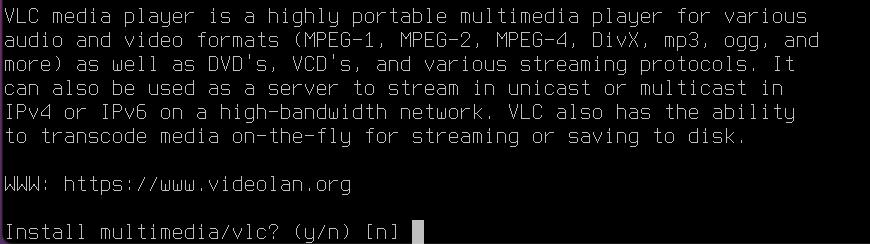 Install VLC on FreeBSD [Desktop Installer]. Source: nudesystems.com
