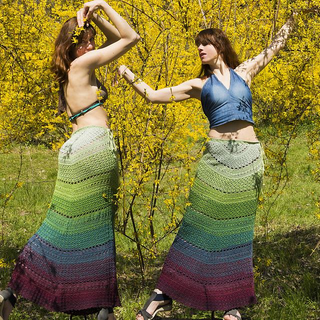 Skirt mermaid crochet pattern