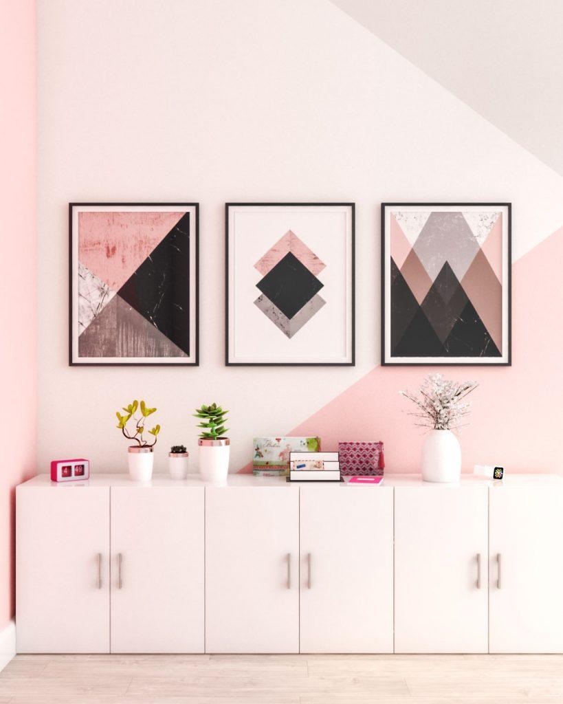 Beautiful Pink Wall Decor Ideas
