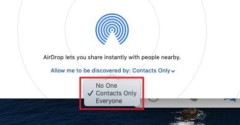 AirDrop lets you share instantly with people nearby - Contacts Only