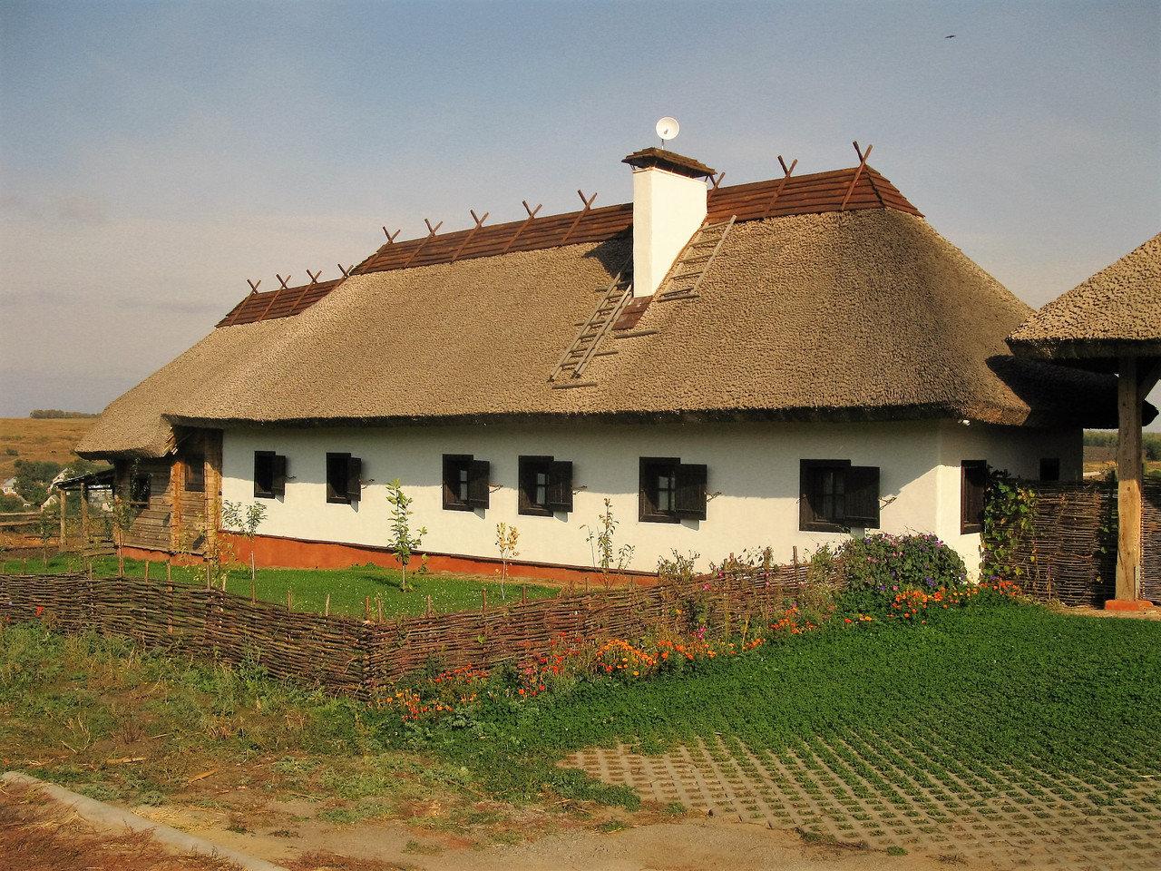 дом с крышей в селе