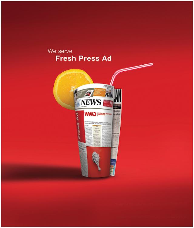 Print Ad hội tụ 2 yếu tố là hình ảnh và câu chữ trên ấn phẩm quảng cáo