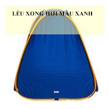 Chiếc lều xong hơi màu xanh