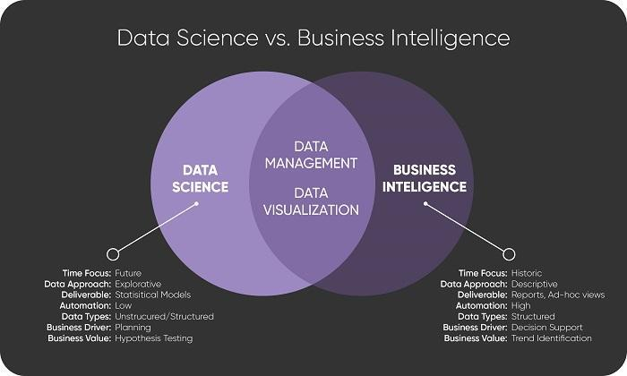 Understanding the Differences Between Data Science and BI   Transforming  Data with Intelligence