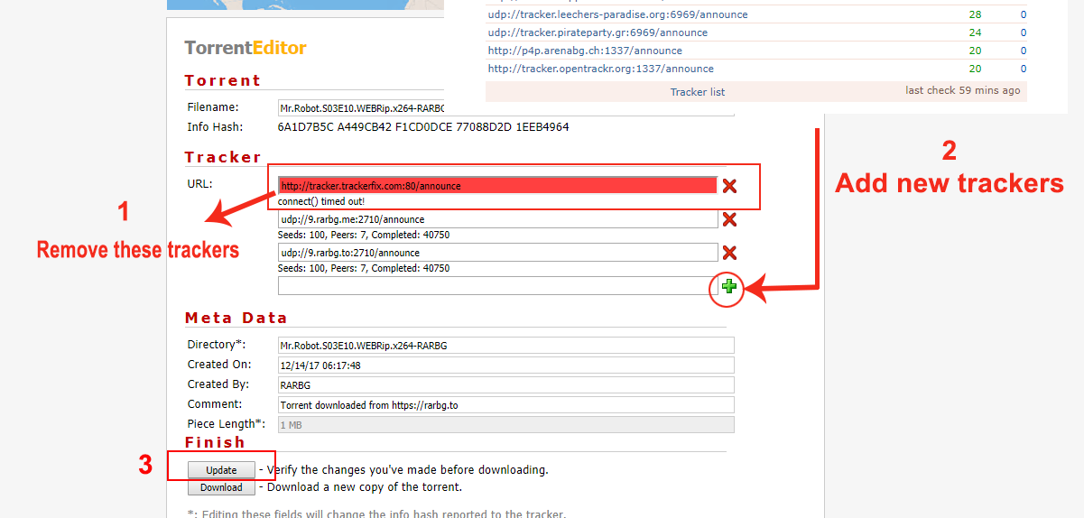 speed up torrent download tracker list