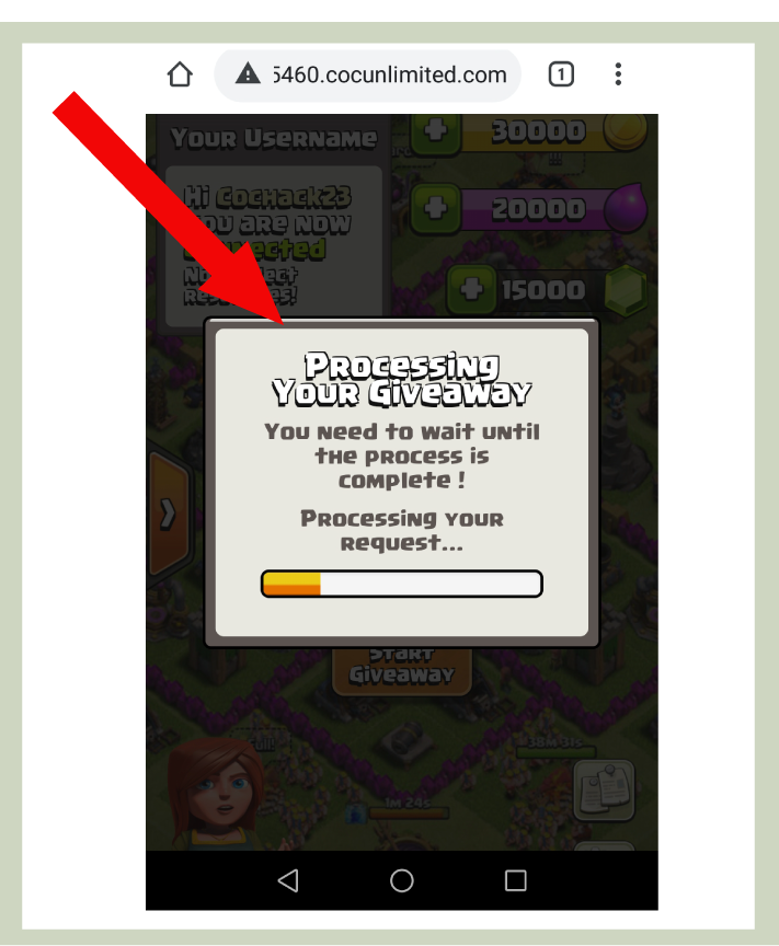 step 5 for coc gems generator