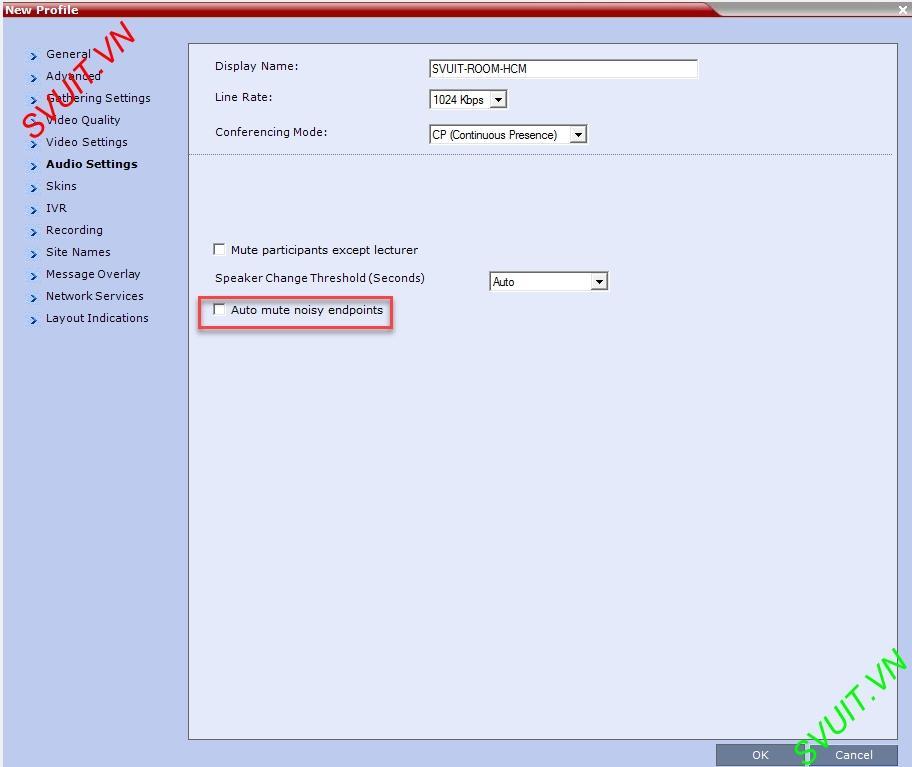 Create profiles on MCU Polycom RMX (8)