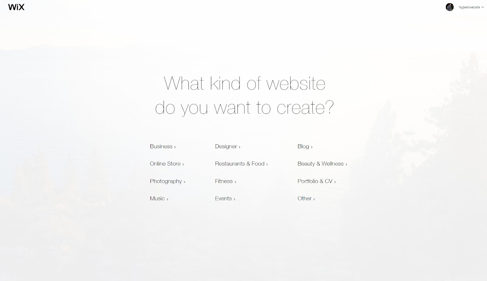 choose what kind a wix website you want