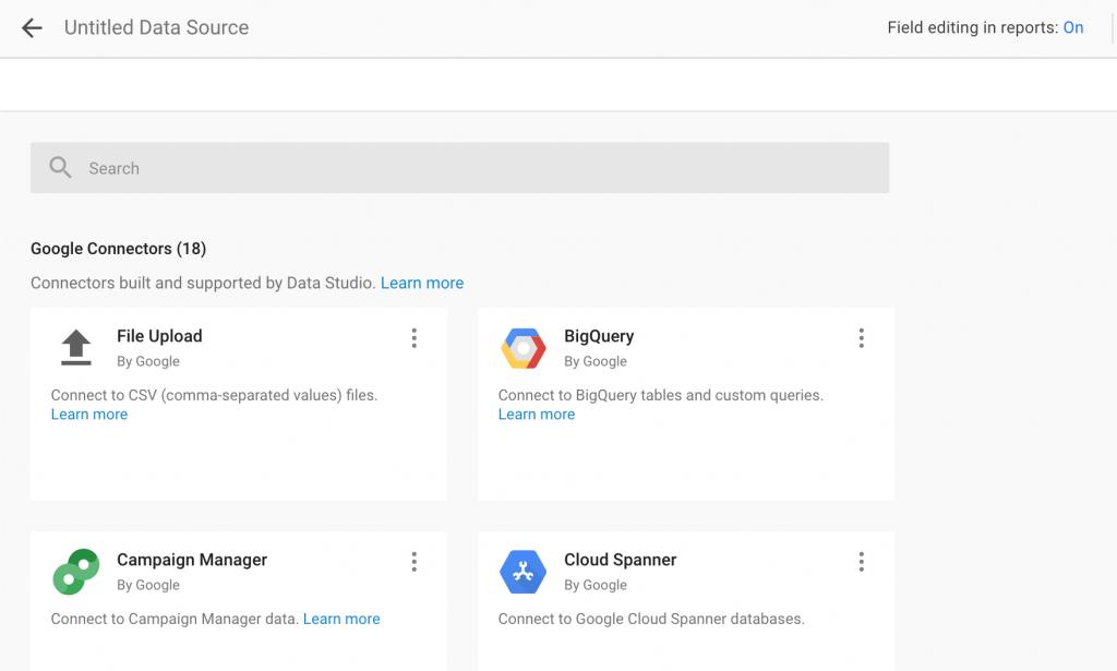 Integración de Fuentes de Datos de Google Data Studio