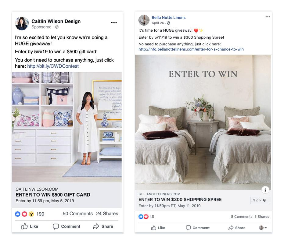 Facebook ad Tips - Contest Making