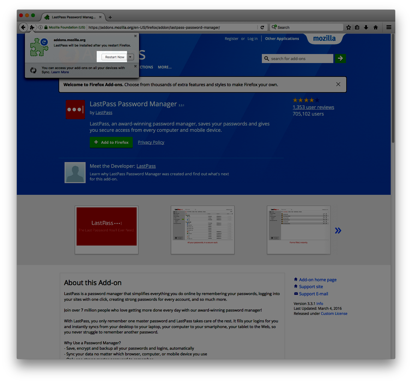 Installing the LastPass Web Browser Tool | Information Security