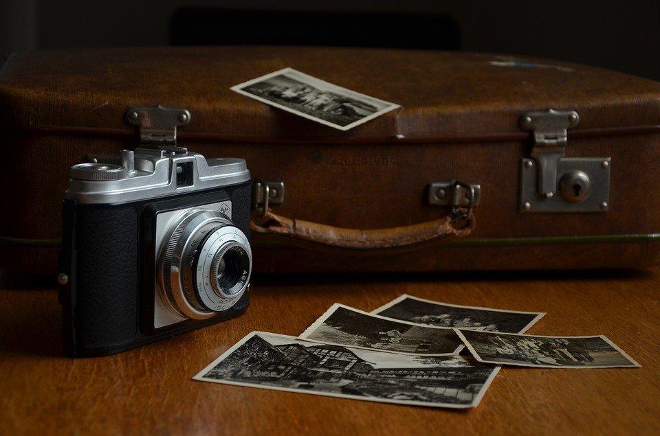 Camera, Luggage, Polaroid Photos, Photos, Photography