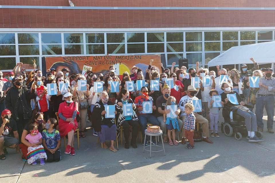 Community celebrates Leonard Peltier's 77th birthday on Sunday, Sept. 12 at Richmond Art Center. (Photo/Facebook)