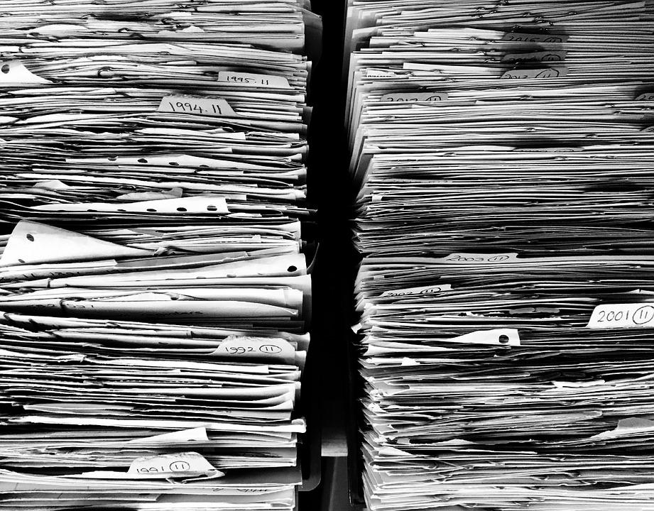 ファイル, 紙, オフィス, 書類, スタック, 仕事, データ, フォルダー, 杭, 整理する, ストレージ
