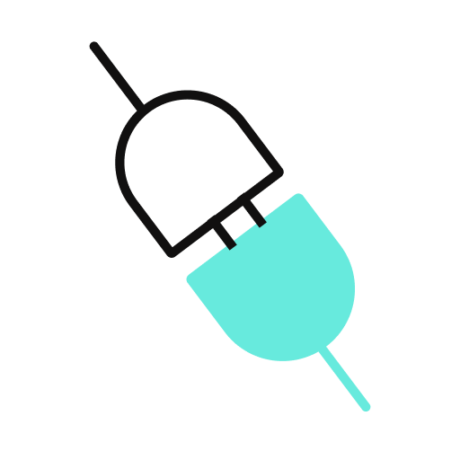 An icon of two plugs connecting