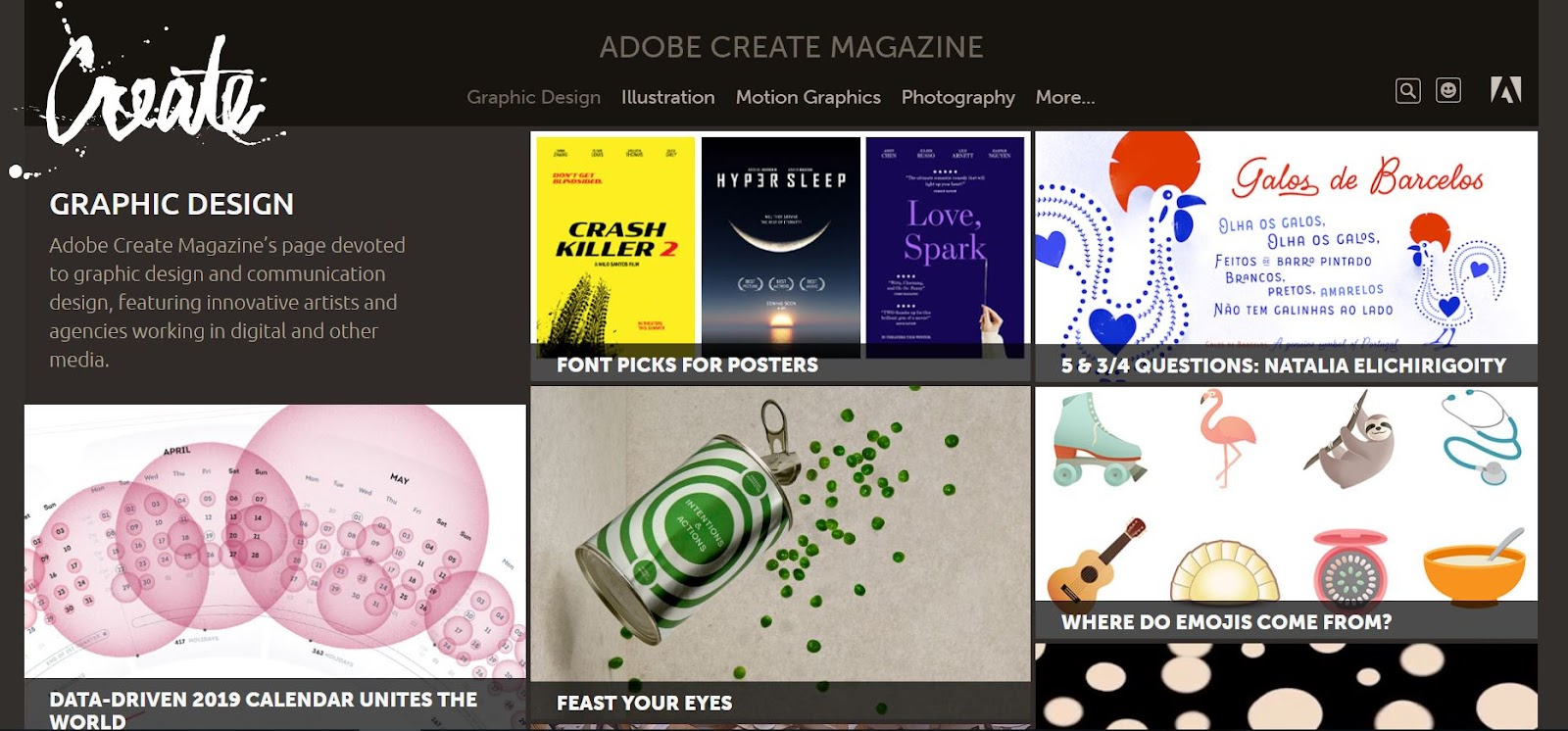Adobe Create Magazine - Top Graphic Design Blogs