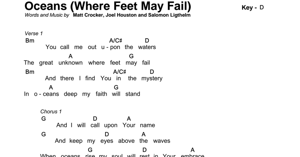 Oceans Where Feet May Fail D 2pdf Google Drive