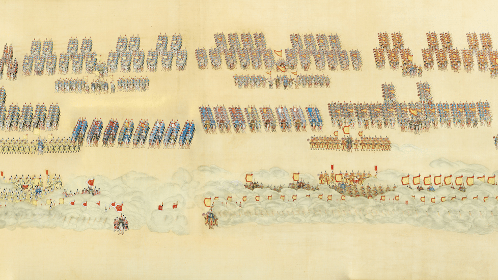 Oeuvre Rouleau impérial chinois de la dynastie Quing, Circa 1748