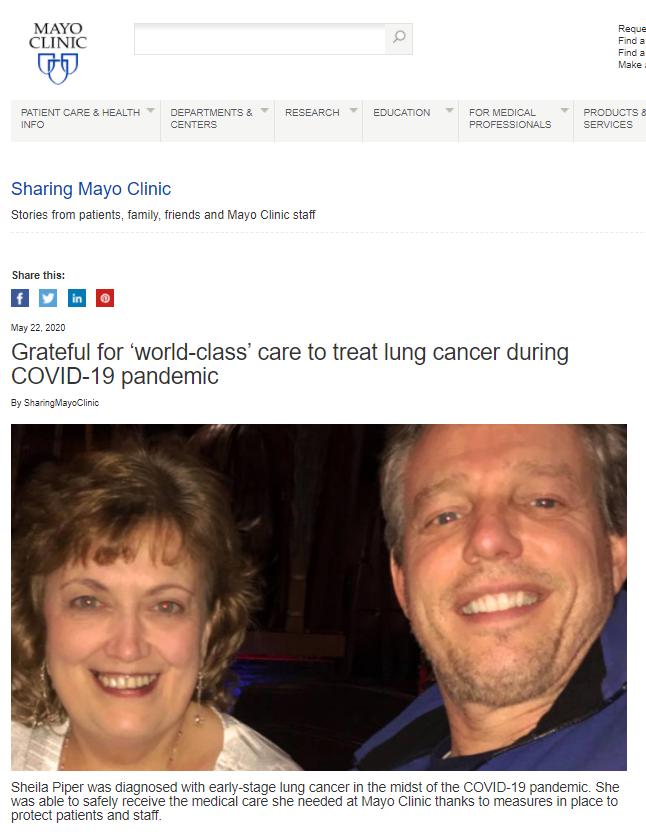 blog do hospital Mayo Clinic