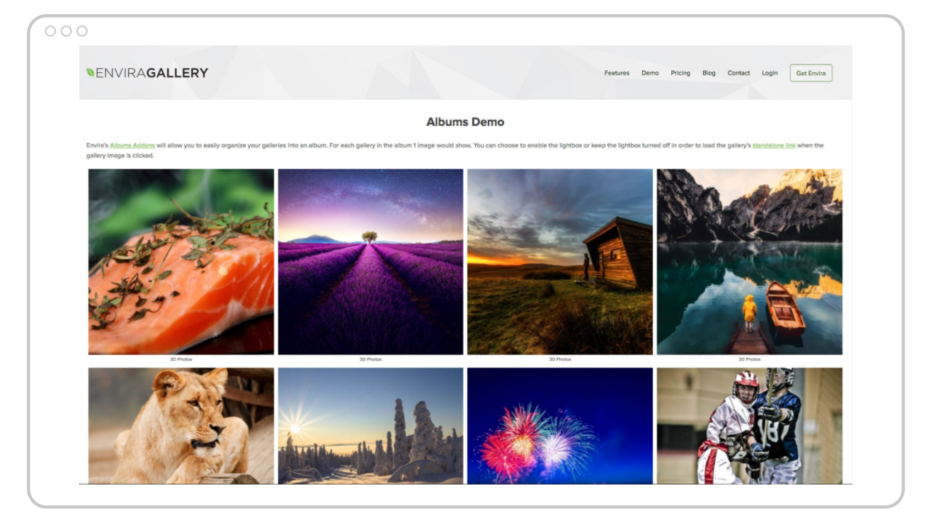 envira gallery image gallery display demo