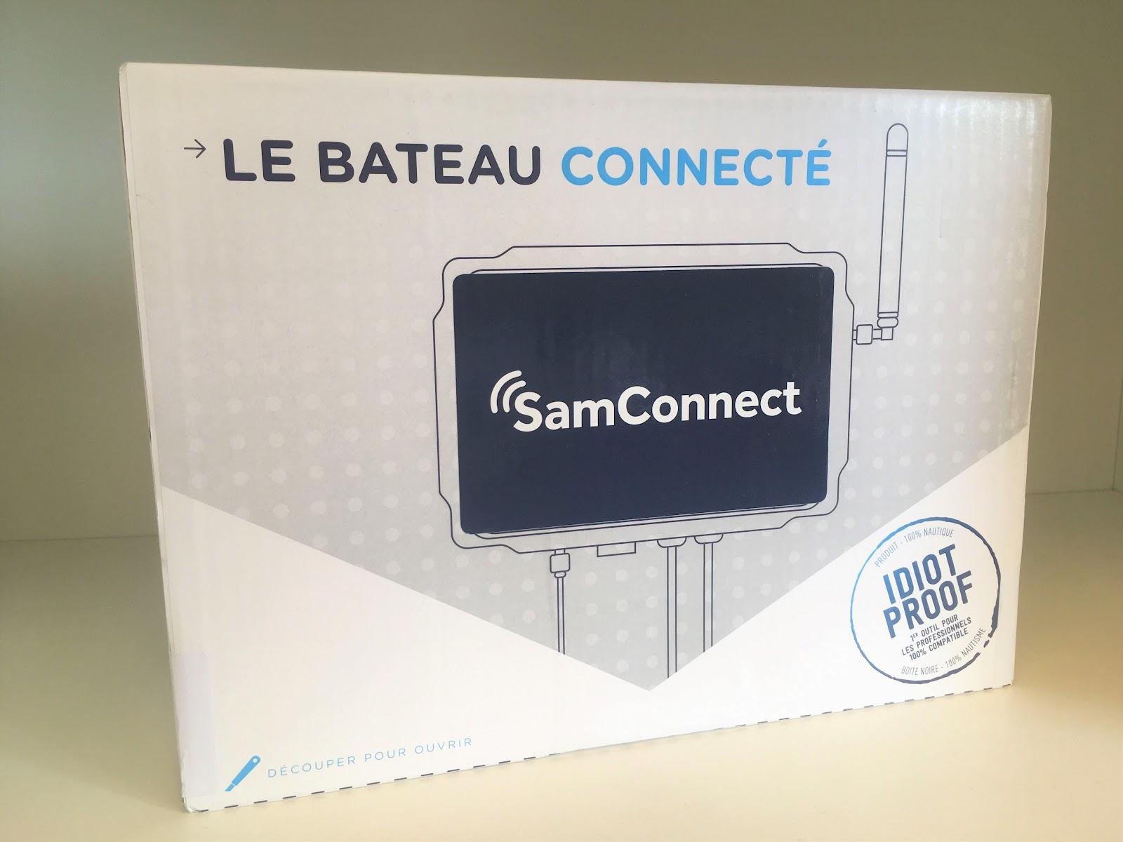Vue de face de l'emballage de la SamConnect
