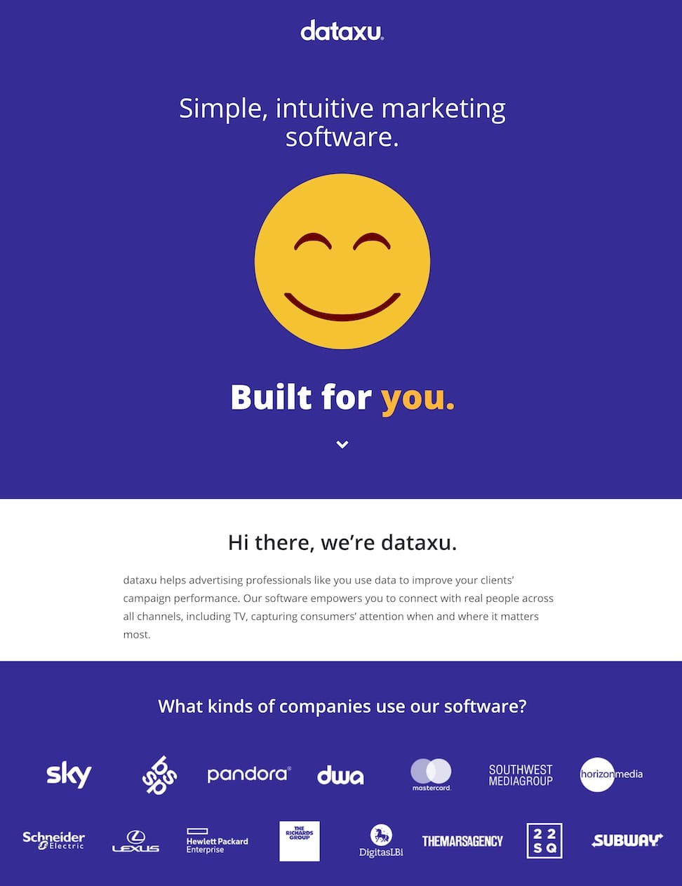 Great landing pages Dataxu