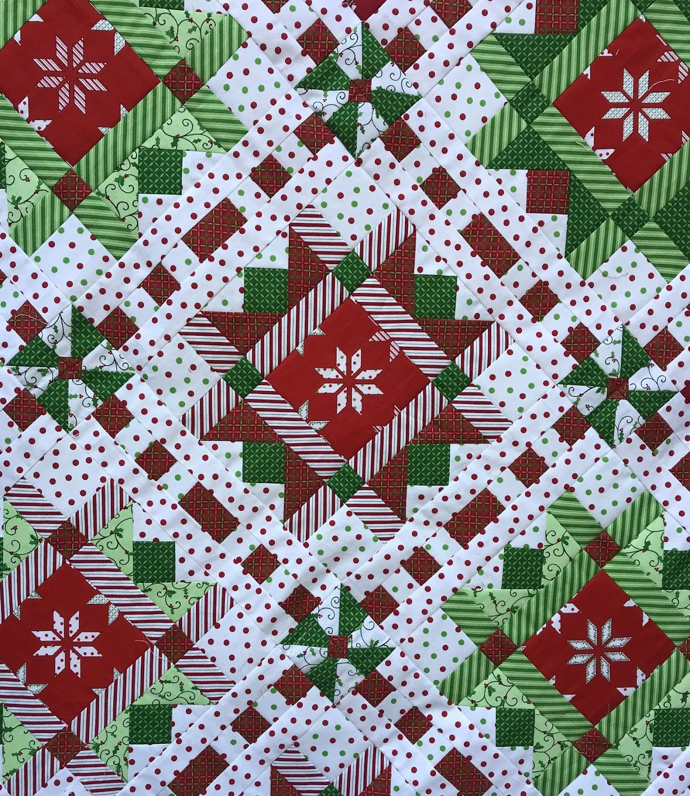 Christmas Ribbons Quilt