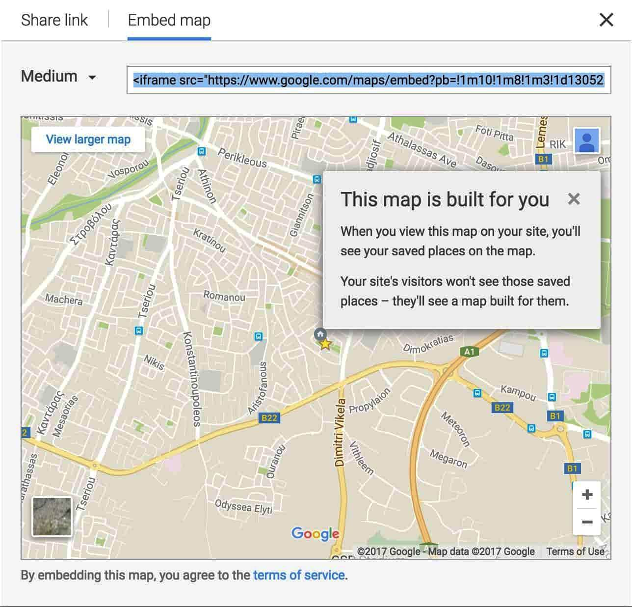 Map on Contact Info Page- SEO checklist