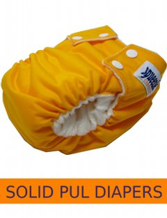 Solid PUL Diapers