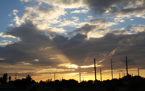 Sun sets in North Miami Beach