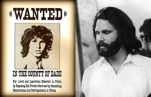 Jim Morrison Wanted Poster and Trial Photo Diptych