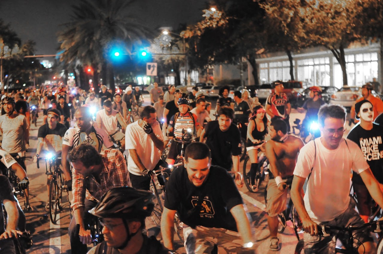 Miami Critical Mass Halloween Riders