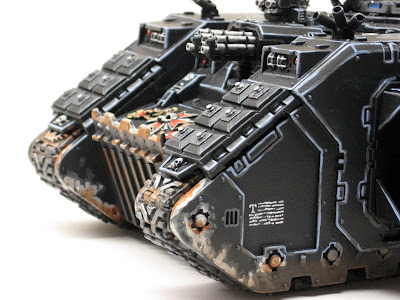 Battle damaged Black Templar Land Raider