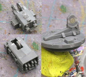 Space marine drop pod weapon mount