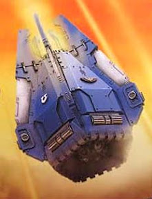 Space Marine drop pod artwork