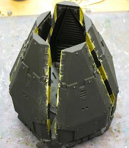 Space Marine drop pod closed up