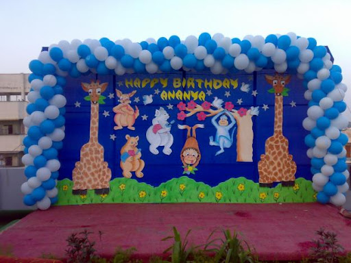 Spiral balloon decors for Balloon decoration in hyderabad