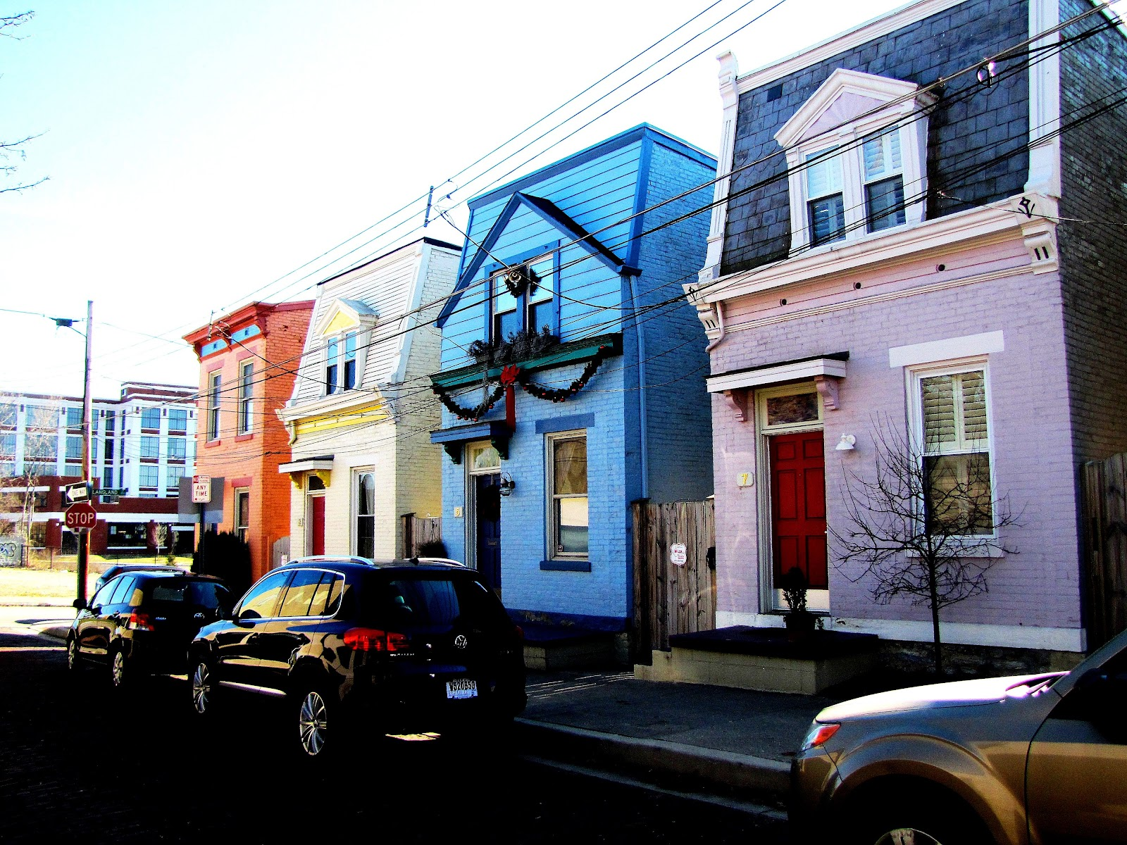 colorful houses on Northside street