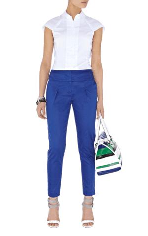 Karen Millen Blue Cropped Pants