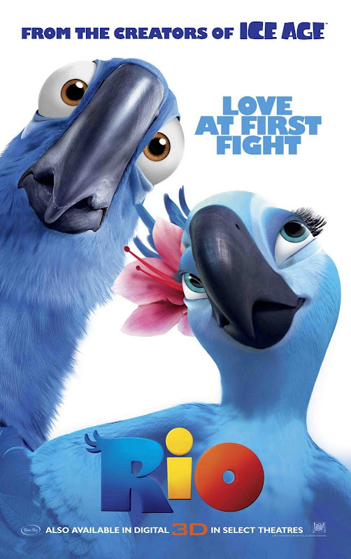 Rio 3D, movie, poster