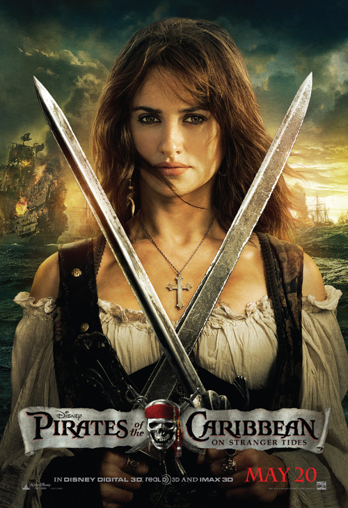 Pirates of the Caribbean 4, On Stranger Tides, poster,Penelope Cruz, new, movie