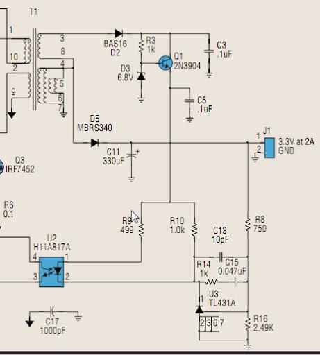 Dùng TL431 + optocoupler làm Feedback error signal trong SMPS một
