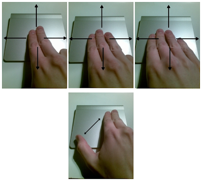 Touchegg multi-touch gestures