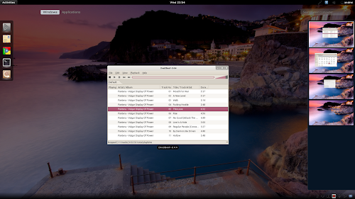Gnome Shell automatic workspaces screenshot