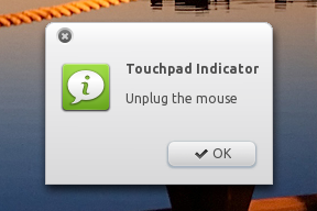 Touchpad Indicator - unplug mouse
